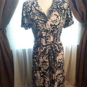 Banana Republic Silk/Cotton Floral Dress